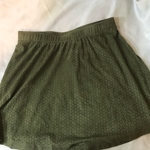 T•Candies olive  green mini skirt.